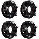"ECCPP Hubcentric Black Wheel Spacers Adapters 4PCS 25mm 1"" 5x4.5 to 5x4.5 5x114.3mm M12x1.25 for Nissan Infiniti FX35 FX45 G35 G37 I30 I35 Altima Maxima Murano Sentra"