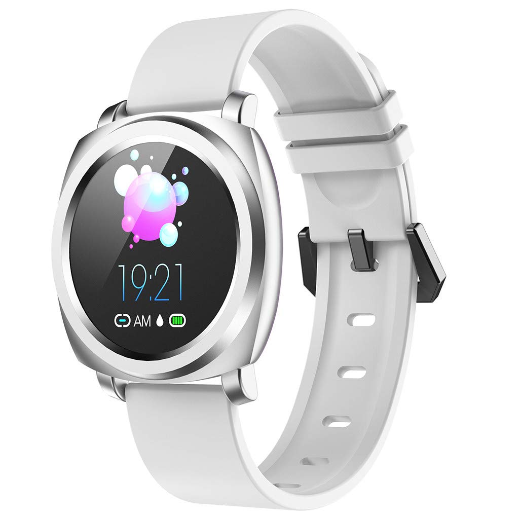 FEDULK Android iOS Smart Watch Sports Fitness Calorie Wristband Health Report Waterproof Smart Watch(White) by FEDULK
