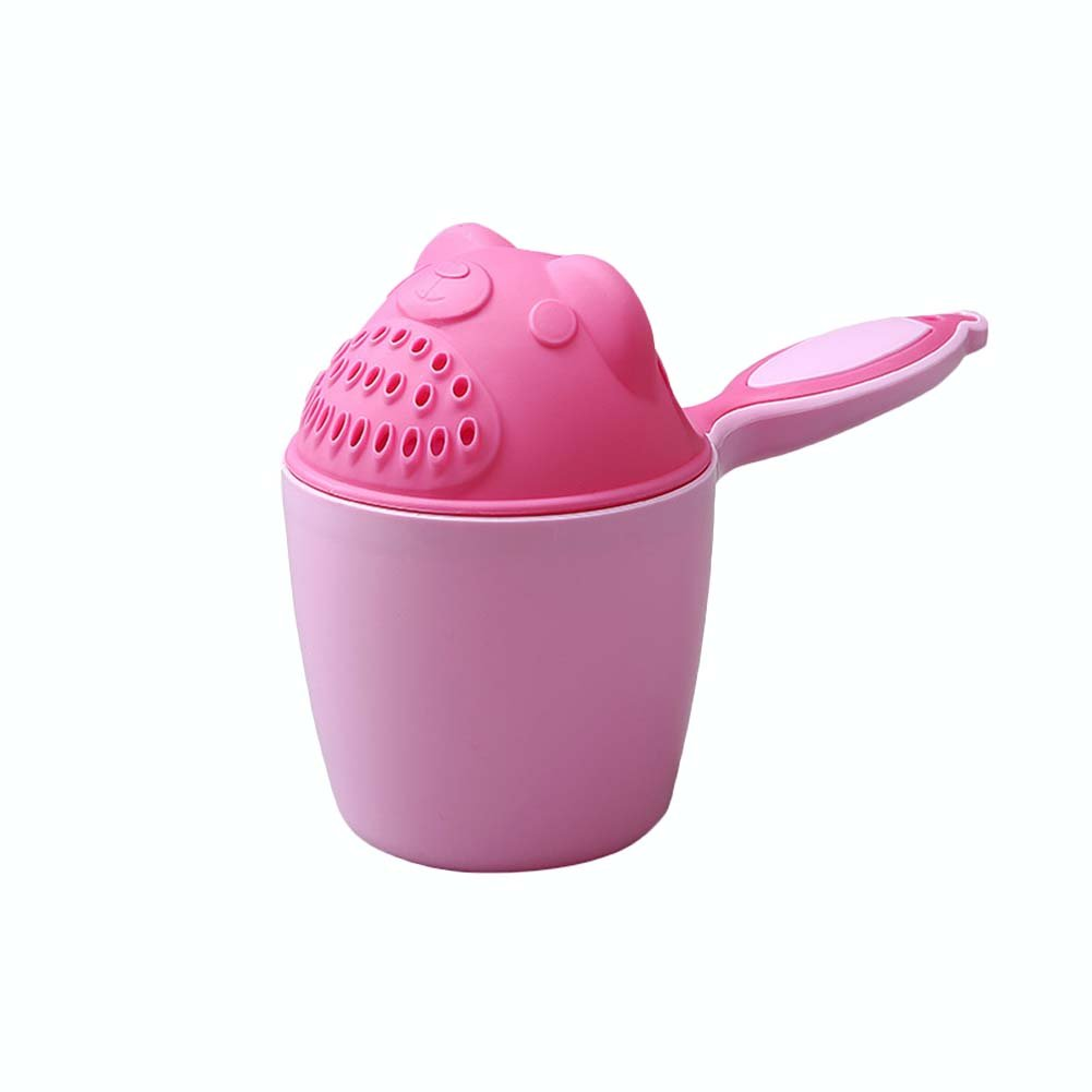 DAYNECETY Bathing Cup Baby Shower Shampoo Rinser Cup Bailer Baby Shower Water Spoon Bath Wash Cup (Pink)