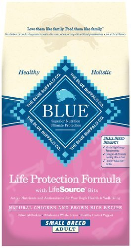 Blue Buffalo Dry Food for Small Breed Dogs, Chicken and Rice Recipe, 6-Pound Bag by Blue (Blue Buffalo Adult Formula)