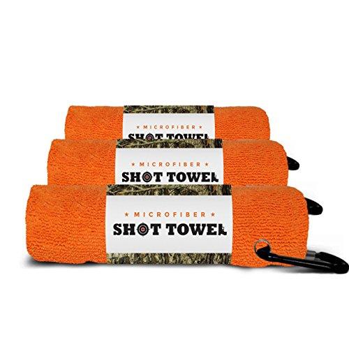 Shot Towel (Blaze Orange-3pk Microfiber, 16