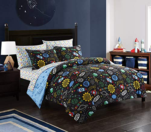 Heritage Kids NK686494 Out of This World Comforter Set, Multi, Twin, 5 - Comforter Of Out World This
