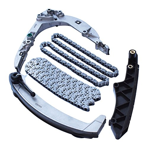 Gallop Timing Chains & Timing Chain Guide Rail Kit Set fits BMW 540i 740i 740iL 840Ci X5 Z8 E39 E38 E31 Land Rover Range Rover M62 (Bmw M62 Timing Chain Tensioner)