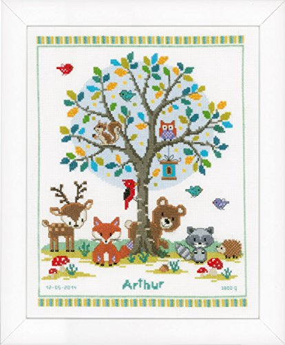 Vervaco Into The Woods Birth Sampler Cross Stitch Kit