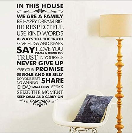 lzdyaya En Esta casa Reglas Familiares Decoración para el hogar ...