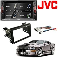 Jvc Double Din Bt In-dash Dvd/cd/am/fm Car Stereo W/6.2 Touchscreen Scosche Dash Kit for 2004 - Up Ford Double Iso Din Kit With Wire Harness