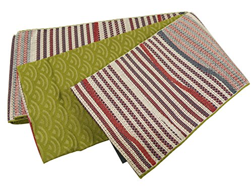 野ウサギアミューズメントトレイル岡重 ブランド 細帯 半幅帯 小袋帯 日本製 縞柄 bo-124
