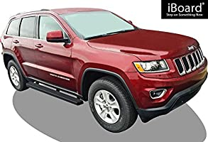 Nerf Bars | Side Steps | Side Bars Excl. Diesel /& Will not fit with OE Skirt cladding APS iBoard Black Running Boards Style Custom Fit 2011-2019 Jeep Grand Cherokee Sport Utility 4-Door