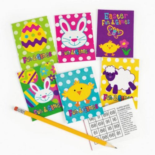 Price comparison product image 72 pc Easter fun and games mini activity coloring books - Bulk Class / group Pack - easter toys and novelties