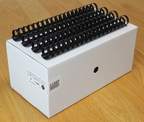 USI Black Plastic Binding Combs, 19-Hole, 1 Inch, 168