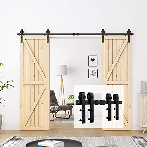 HOMLUX Double Barn Door Hardware Kit