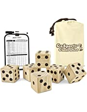 Save big on GoSports Giant Wooden Playing Dice Set for Jumbo Size Fun (Includes 6 Dice and Canvas Carrying Bag). Discount applied in price displayed.