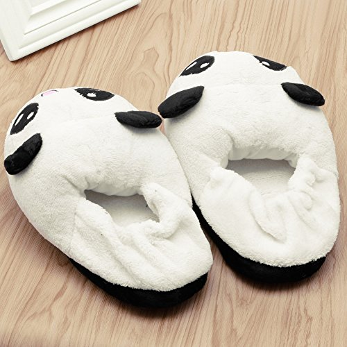 ad2131093 Kocome Cute Funny Panda Eyes Women Slippers Lovely Cartoon Indoor Home Soft  Shoes