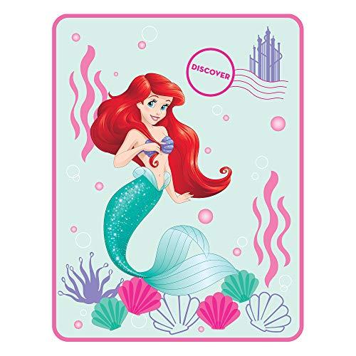 Disney Princess Ariel Kids Bedding Ultra Soft Plush Throw, 4