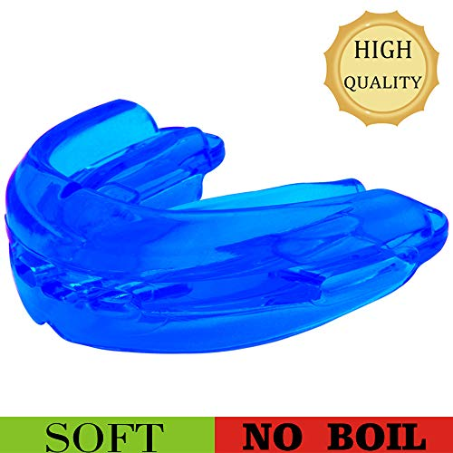 Sport Mouth Guard, Youth Mouthguard for Braces, Sparring Mouth Guard Large Size, Upper and Lower Teeth Protection, Premium Quality No Boiling Required