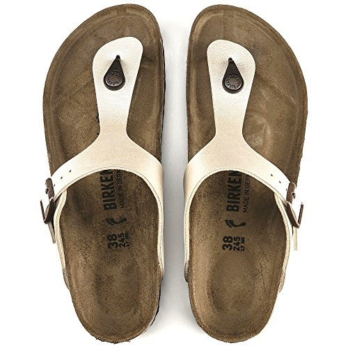 Birkenstock BIRK-943873-Wht NARROW FIT-38 M US Gizeh White by Birkenstock (Image #3)
