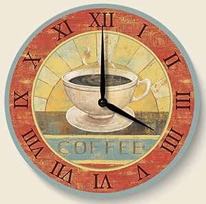Fresh Brew Coffee Theme Kitchen Wood Wall Clock Kitchen Dining