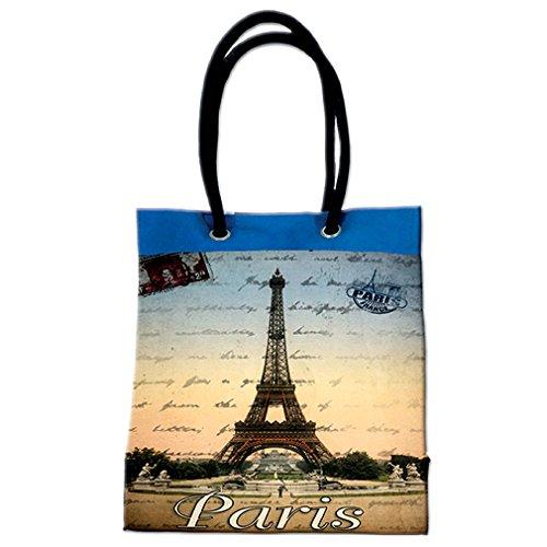 multicolor mujer de de France multicolor asas de Bolso Lona para Souvenirs z8Xaq5