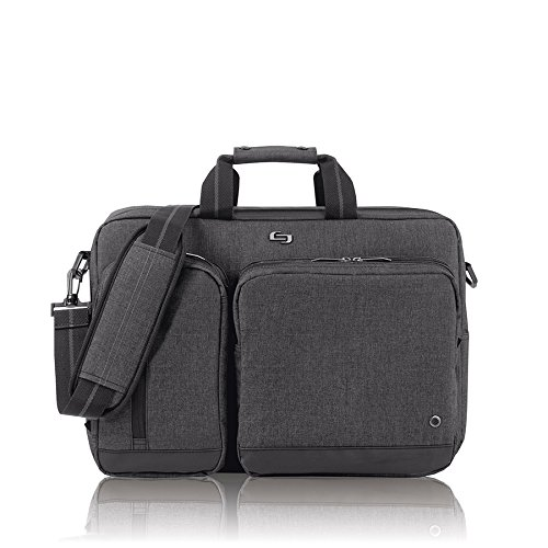 Express Laptop Tote Bag (Solo Duane 15.6 Inch Laptop Hybrid Briefcase, Converts to Backpack, Grey)