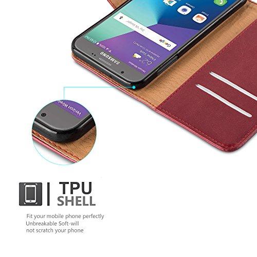 Cadorabo - Funda Estilo Book Lujo para >                                              Samsung Galaxy J3 (7) - Modelo 2017                                              < (Solo para la versión americana) con Tarjetero y Función de Soporte