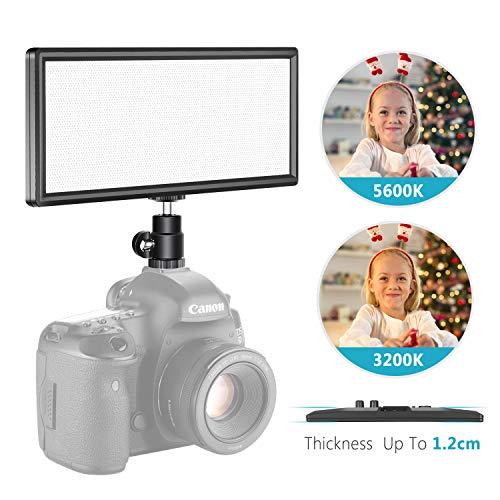 Neewer LED Light Panel On Camera Video Light 3200K-5600K for Canon Nikon Sony, CRI 97+ (Battery NOT Included)