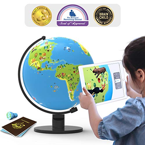 Shifu Orboot (App Based): Augmented Reality Interactive Globe for Kids, STEM Toy for Boys & Girls Age 4 to 10 Years | Educational Toy Gift (No Borders, No Names on -