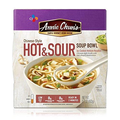 Annie Chun's Hot & Sour Soup Noodle Bowl, 5.7-Ounce Bowls (Pack of ()