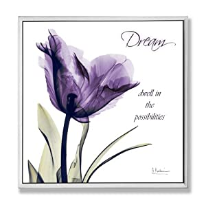 Stupell Home D Cor Dream Purple Flower X Ray