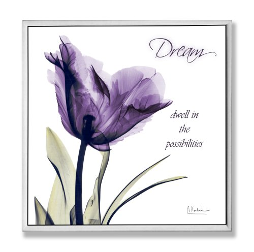 Stupell Home Décor Dream Purple Flower X-ray Art Wall Plaque