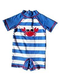 eKooBee Baby Little Boys Sunsuit Striped Animal Rash Guard Swimsuit Swimwear