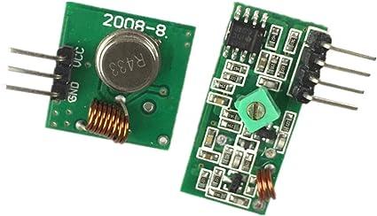 Stayhome 433Mhz - Kit de conexión de transmisor y módulo Receptor RF para Arm/MCU WL DIY 315MHZ/433MHZ inalámbrico para Kit de Bricolaje Arduino: Amazon.es: Electrónica