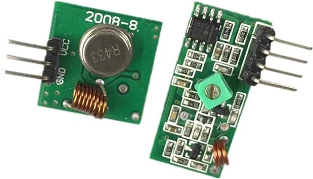 Stayhome 433Mhz - Kit de conexión de transmisor y módulo Receptor ...