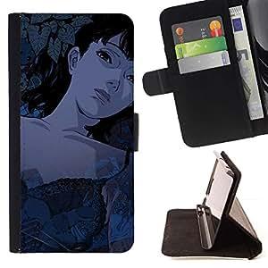 Momo Phone Case / Flip Funda de Cuero Case Cover - Muchacha de la historieta de Tattoed Sexy;;;;;;;; - Samsung Galaxy S4 IV I9500