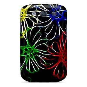 Perfect Fit DyjnXXU7023wGCMh Neon Flowers Case For Galaxy - S3 by Maris's Diary