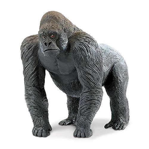 Safari Ltd. Wildlife Wonders - Silverback Gorilla - Quality Construction from Phthalate, Lead and BPA Free Materials - for Ages 3 and Up (Sign Language Games To Play In Class)