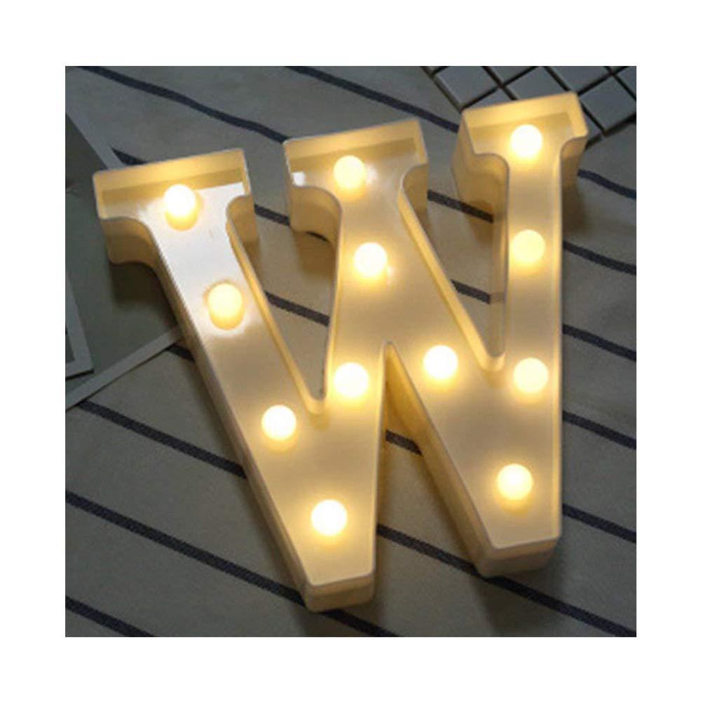 von DUBENS LED Brief Lichter Alphabet Kunststoff Lampe Warm White Buchstaben Lichter Dekoration Wei/ße Buchstaben Lichter Festzelt Licht Batteriebetrieben A f/ür Party Hochzeit Empf/änge Home