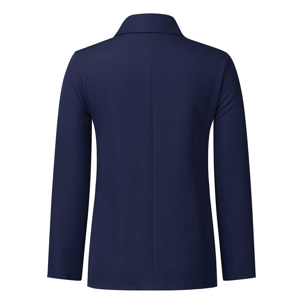 ITISME Manteaux Femme Élégant Blazer à Manches Longues Slim Fit OL Bureau Affaires Veste de Costume Chic Cardigan Blouson Veste B14-marine