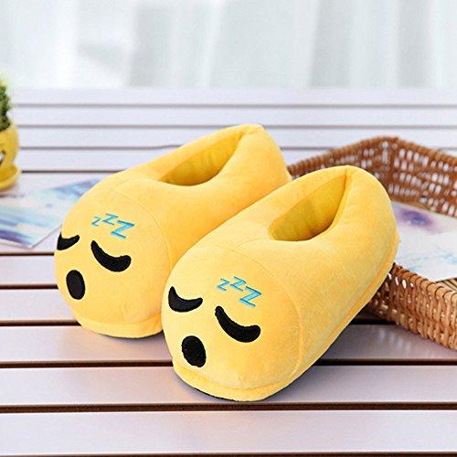 Winter � Shuhe Schuhe Emoji Loveso Männer Hausschuhe Haus Plüsch � Q Expression Und Frauen Pantoffel q1PqRHOx