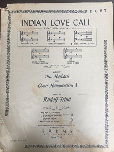(Indian Love Call. Duet. Soprano and Baritone)
