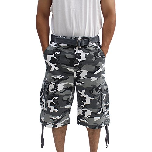 331d4f5f05 La Gate Mens Big and Tall Belted up to size 50 Cargo Short (38,