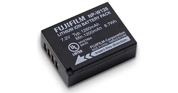 Amazon.com: Fujifilm NP-W126 Li-Ion batería recargable ...
