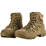 FREE SOLDIER Waterproof Mid Hiking Boots 6 Inch Outdoor Breathable Suedu Leather Tactical and Military Shoe(Coyote Brown 10)