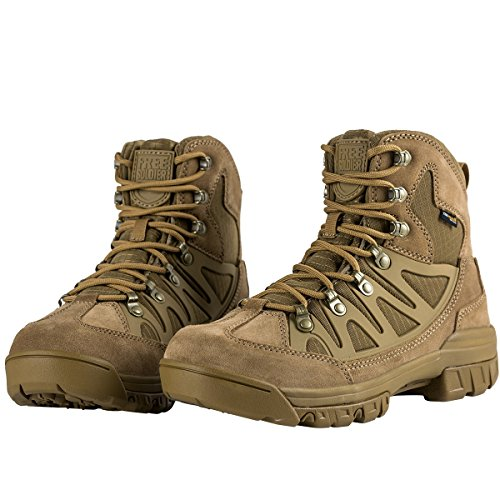 How To Waterproof Leather Boots - FREE SOLDIER Waterproof Mid Hiking Boots 6 Inch Outdoor Breathable Suedu Leather Tactical and Military Shoe(Coyote Brown 10.5)