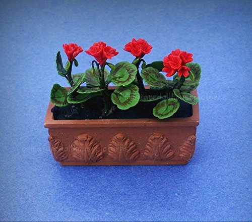 Dolls, Bears Houses, Miniatures Miniature Dollhouse 1:12 Scale Garden Planter Box Flower Pot