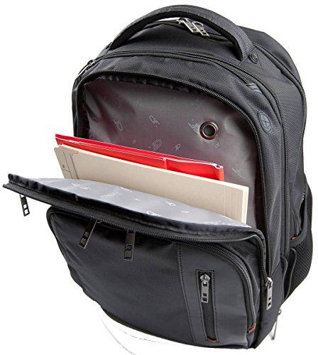 Schwarz Hydros Laptop Rucksack von Gino Ferrari