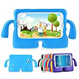 Lioeo Samsung Galaxy Tab 3 / 3 Lite 7.0 Case for Kids Rubber Shock Proof Protective Case Cover with Carry Handle for Samsung Galaxy Tab 3 /3 Lite Tablet 7 inch Screen (Blue)
