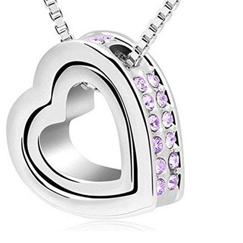 Doinshop Crystal Rhinestone Eternal Necklace