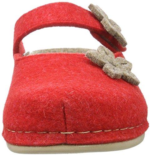 Manitu Home Damen-Pantolette Rot 320495-4 Rot oLQgLs