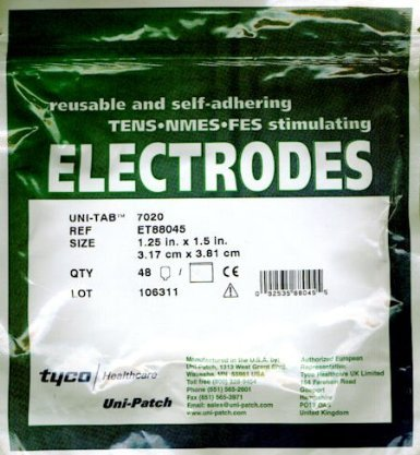 Tyco Uni-Tab 7020 Pack of 10 Reusable and Self-adhering Stimulating Electrodes - Patches by YBS