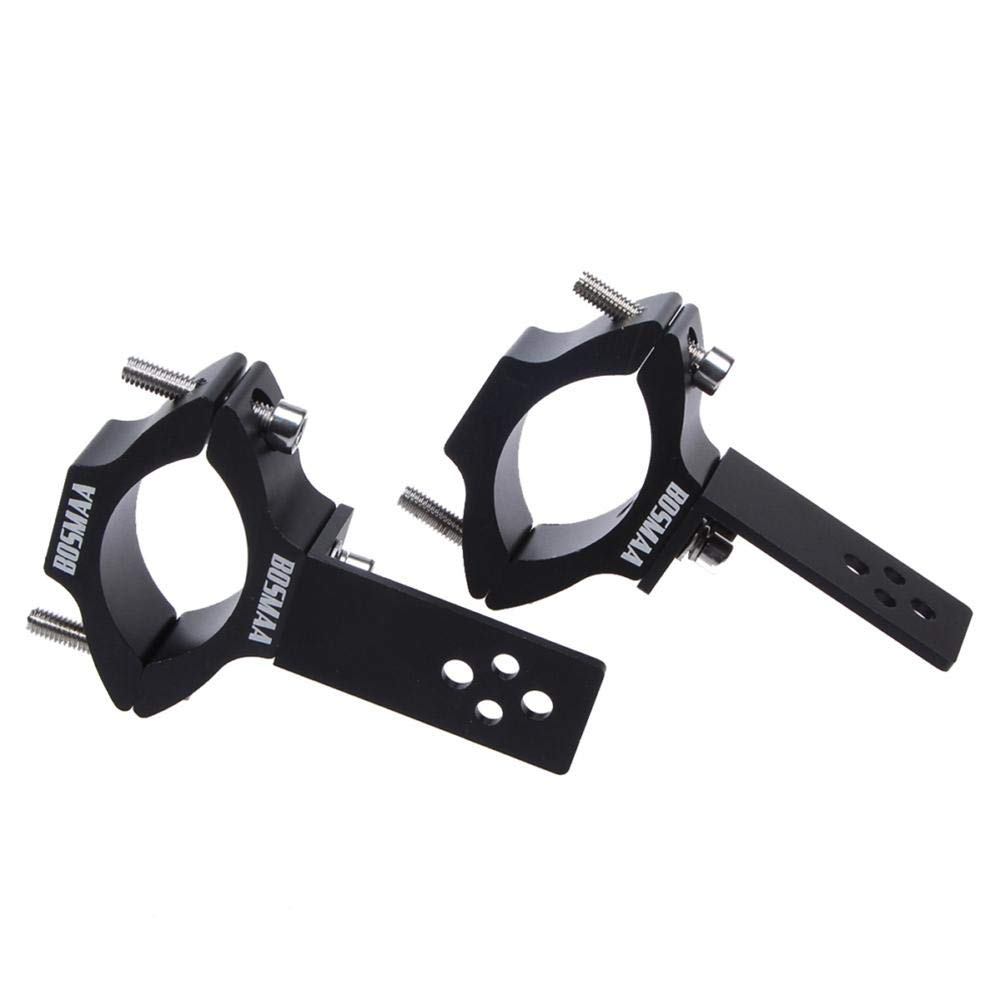 NSN Motorcycle Headlight Bracket, Motorcycle Black Turn Signal Clamps Headlight Mount Bracket Aluminum Alloy Pipe clamp Applicable Diameter 22-54MM Round Tube